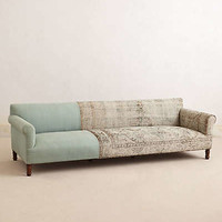 Anthropologie - Knotted Linen Sofa
