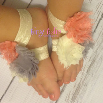 Baby Barefoot Sandals...Newborn Sandals...Toddler Sandals..