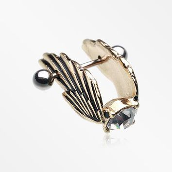 Golden Divine Wing Cartilage Ear Cuff