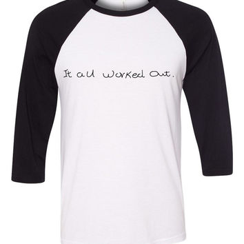 "One Direction ""It All Worked Out / Niall Horan Handwriting"" Baseball Tee"