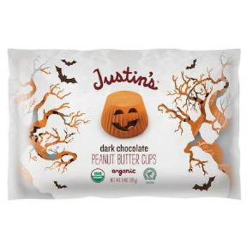Justin's Halloween Dark Chocolate Peanut Butter Cups 9.4oz : Target
