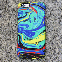 Watercolor Turquoise iPhone 6 iPhone 6 plus Case Blue iPhone 5S 5iPhone 5CiPhone 4S/4 Case Yellow Samsung Galaxy S6 edge S6 S5 S4 Case 046