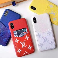 Louis vuitton fashion hit for men and women printed iPhone case with card slot