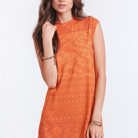 Goldie Mini Dress In Tangerine Hazely By Novella Royale