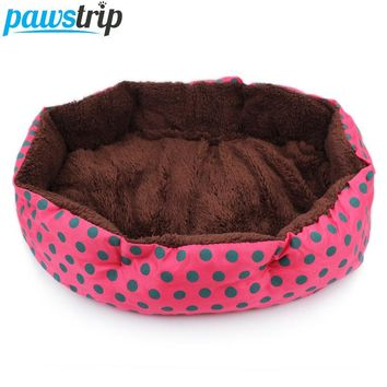 Multi Color Small Dog Bed With Detachable, Washable Soft Berber Fleece Cushion S/L