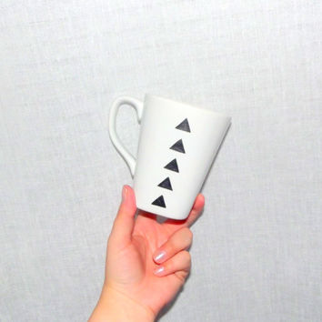 Triangles - Painted Mug