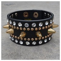 Spike Chic Crystal Bracelet- Tanya Kara Jewelry