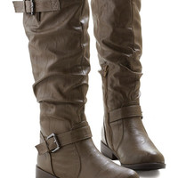 ModCloth Movie Along Boot in Slate Brown