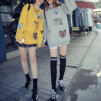 Loose casual cartoon sweater