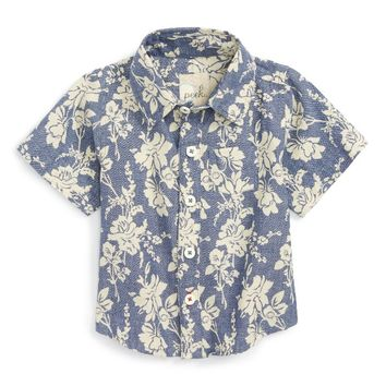 Peek Floral Woven Shirt (Baby Boys) | Nordstrom