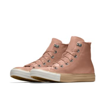 The Converse Custom Chuck Taylor All Star Metallic Leather High Top Shoe.