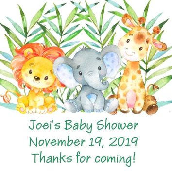 Safari Baby Shower Favor Tags