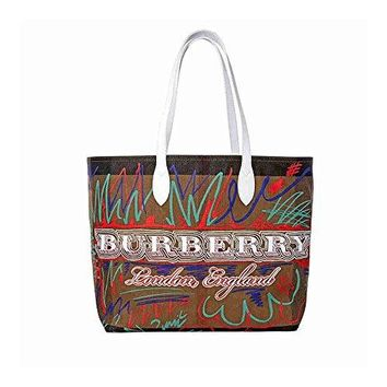 Burberry Women's Doodletote Check Reversible Canvas Tote