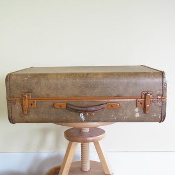 vintage suitcase artists case vintage suitcases luggage wedding card holder /old suitcase photo prop / stacking suitcases / antique suitcase
