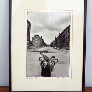 Original Signed Chaim Kanner Photograph ~ Glasgow 1966