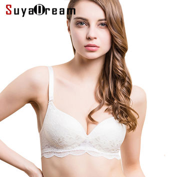Women Lace Bras Wireless Bralette Seamless Bra Push up 100% Natural silk underwear deporte sujetador reggiseno Free shipping