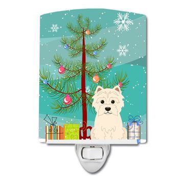Merry Christmas Tree Westie Ceramic Night Light BB4167CNL