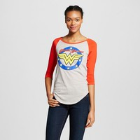 Women's Wonder Woman Graphic Raglan - Warner Brothers