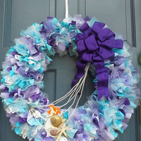 "A ""Little Mermaid"" inspired wreath"