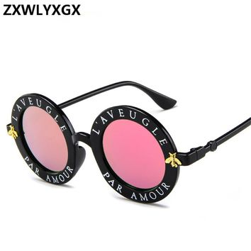 ZXWLYXGX 2018 new style design round frame sunglasses men and women fashion glasses popular sunglasses UV400