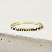 Eternity Ring - Gold with Black