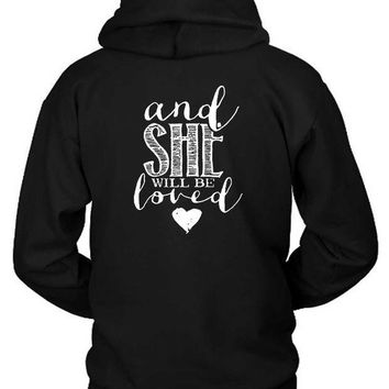 ESBH9S Maroon 5 Quote And She Will Be Hoodie Two Sided