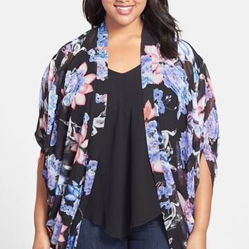 Plus Size Women's City Chic 'Lotus' Kimono Jacket