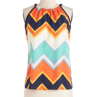 ModCloth Mid-length Sleeveless When All is Said and Fun Top