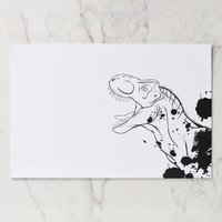 T-Rex (Black and White) Paper Pad