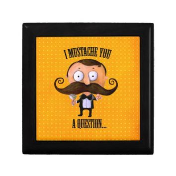 I Mustache You A Question... Jewelry Boxes from Zazzle.com