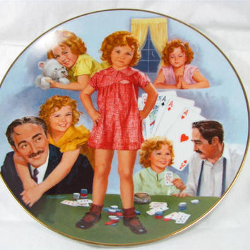 Vintage 1984 Collector Plate Shirley Temple Classics LITTLE MISS MARKER