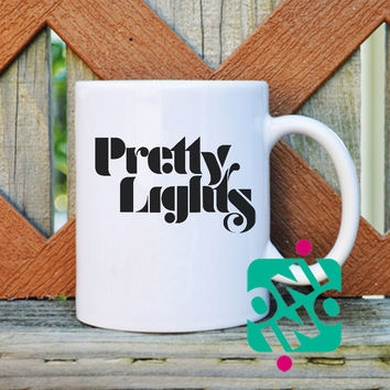 Pretty Lights Logo Coffee Mug, Ceramic Mug, Unique Coffee Mug Gift Coffee