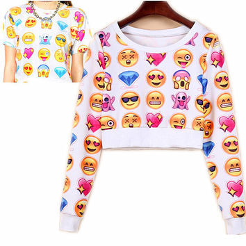 Novelty Emoji Joggers Cotton Sport 3D Print T shirt