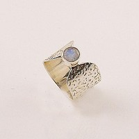 Moonstone Sterling Silver Band Ring