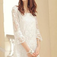 White Lace Dress from ForestFairy