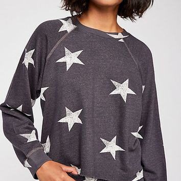 Oversized Star Cutoff Raglan