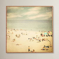 Vintage Beach Framed Photographic Print Plaque & Reviews | AllModern