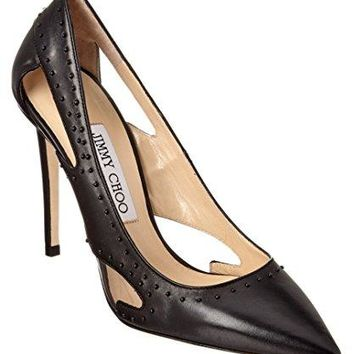 Jimmy Choo Vienna 100 Black Studded Pumps 7