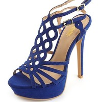 LOOPY CUT-OUT PLATFORM HEELS