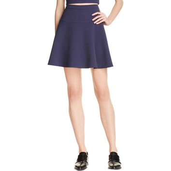 Likely Womens Solid Mini A-Line Skirt