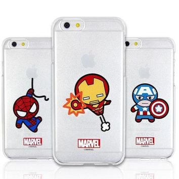 Marvel Avengers Kawaii Clear Hard Phone Case