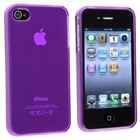 PURPLE SOFT GEL COVER CASE for Verizon iPhone 4 G IOS5