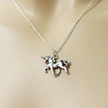 Unicorn, Necklace, Unicorn, Necklace, Birthday, Necklace, Fairy, Tail, Horse, Necklace, Horse, Jewelry, Simple, Necklace, Gift Charm,Pendant