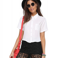 Short Sleeve Cropped Top