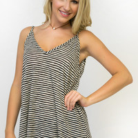 Sunny Day Striped V-Neck Tank