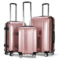3 Piece Luggage Set Hard Suitcases Carry On for Travel