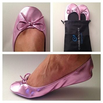 Ballet Flat in Pink by Cinderollies - FINAL SALE