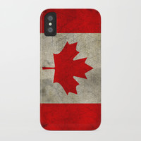 Vintage Canada Flag iPhone Case by Smyrna