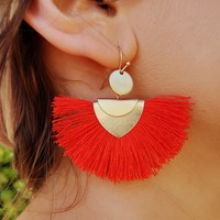 Count On You Earrings: Red/Gold