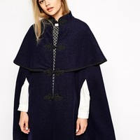 Sister Jane Wool Blend Regale Cape at asos.com